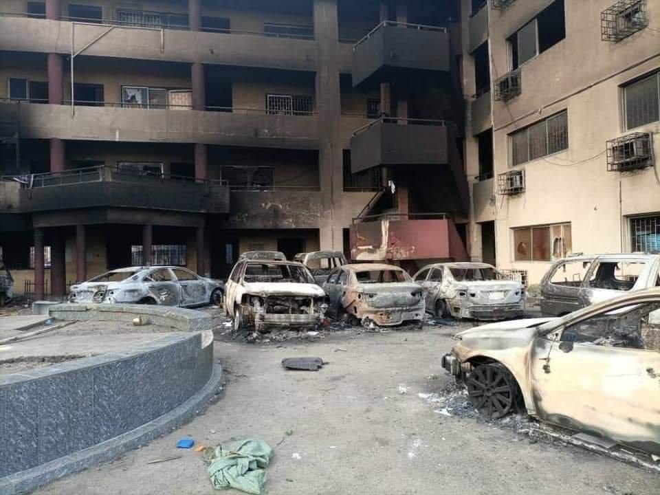 PHOTONEWS: Ajeromi Ifelodun local government council Lagos burnt down by hoodlums 4