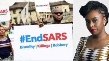 """Nigeria Is Murdering Its Citizens"" - Chimamanda Ngozi Adichie Writes About #EndSARS Protest 14"