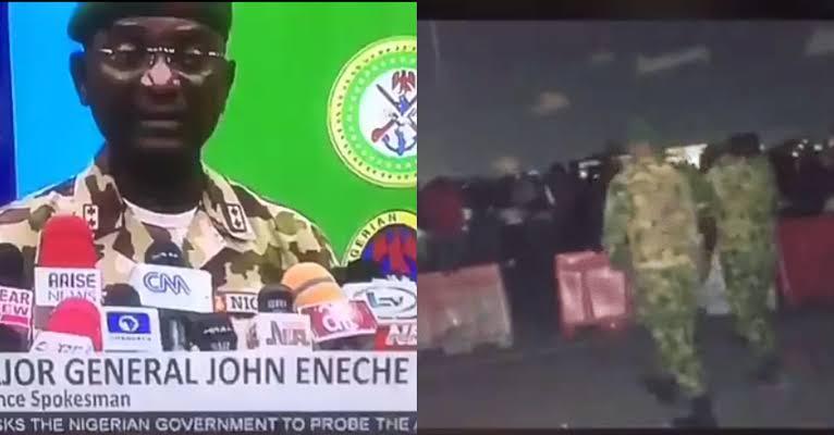 Nigerian Army General, John Enenche Says Videos Of Lekki Shooting Were Photoshopped [Video] 1