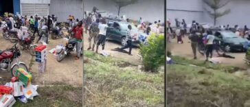 Another Warehouse Filled With Covid-19 Palliatives Currently Being Looted In Ede, Osun State [Video] 24