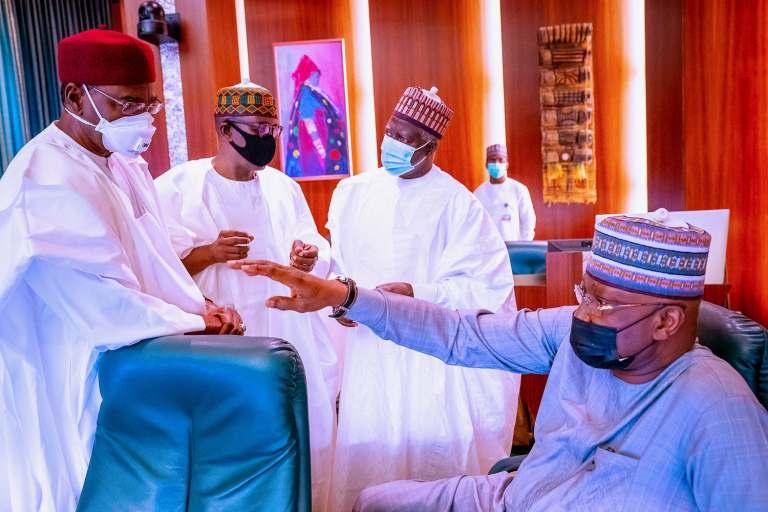 Preident Buhari Meets Obasanjo, Jonathan, Gowon, Others Amid #EndSARS Protests [Photos] 5