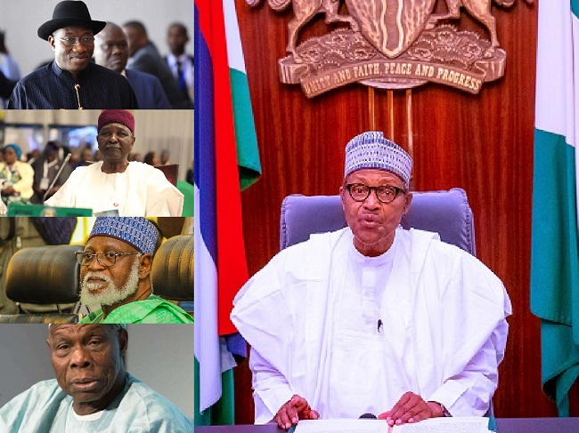 """""""I Stopped #EndSARS Protest Because It Was Hijacked"""" - President Buhari Tells Ex-Leaders 1"""