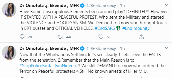 #EndSARS: If People Died During Lekki Shooting, Let Their Family Speak Out - Omotola Jalade-Ekeinde 3