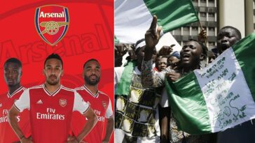 """Our Thoughts Are With Everyone In Nigeria"" - Arsenal Football Club Reacts To #EndSARS Protest 8"