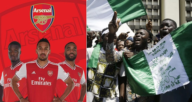 """""""Our Thoughts Are With Everyone In Nigeria"""" - Arsenal Football Club Reacts To #EndSARS Protest 1"""