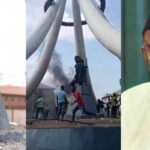 Angry Youths Burn Nnamdi Azikiwe's Statue In Anambra, Say He Caused Their Problems 27