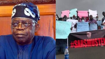 "#EndSARS Protest: Angry Nigerians Storms Tinubu's Residence In London Shouting ""Ole"" [Video] 14"