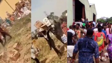 Residents Loot Warehouse Filled With COVID-19 Palliative In Yola, Adamawa State [Video] 14