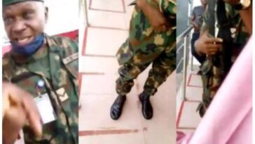 Nigerian Soldier Arrested For Threatening And Assaulting A Lady At Lagos ATM Queue [Video] 10