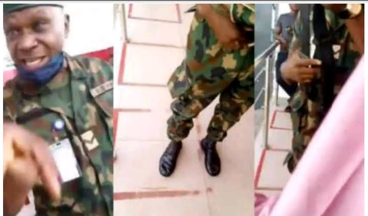 Nigerian Soldier Arrested For Threatening And Assaulting A Lady At Lagos ATM Queue [Video] 1