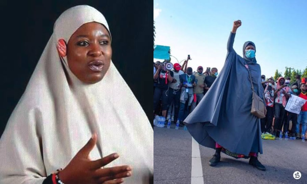 I'm Being Cursed In Mosques Over My Involvement In #ENDSARS Protest - Aisha Yesufu 1