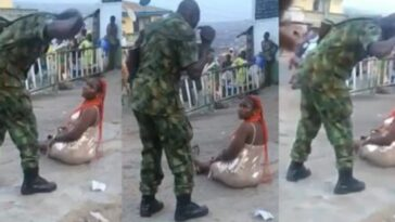 Operation Burst: Soldier Flogs Woman In Public For 'Indecent Dressing' In Ibadan [Video] 5