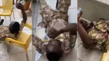 Nigerian Soldier Caught On Camera Acting Crazy After Taking Hard Drug 'Colorado' [Video] 3