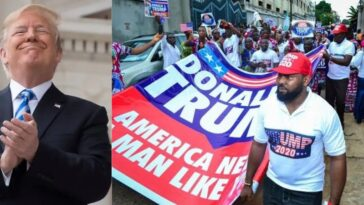 US President, Donald Trump Reacts As Nigerians Holds Rally To Campaign For Him [Video] 3