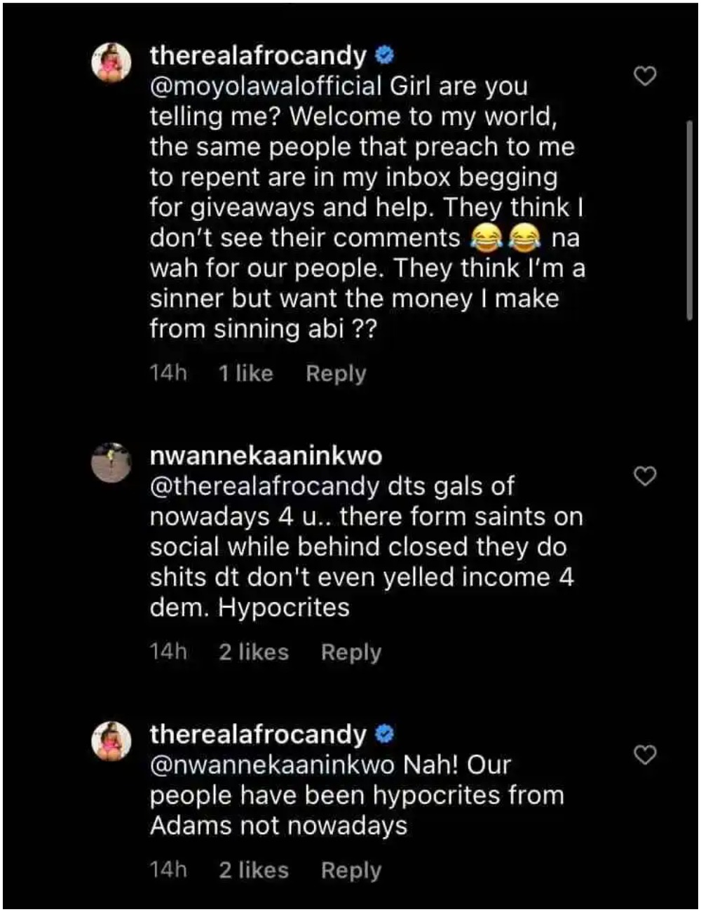 Those Preaching Repentance To Me Are In My Inbox Begging For Money – Nigerian Pοrnstar, Afrocandy 3