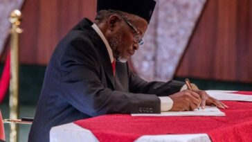 CJN Tanko Muhammad, Swears In Eight New Supreme Court Justices 1