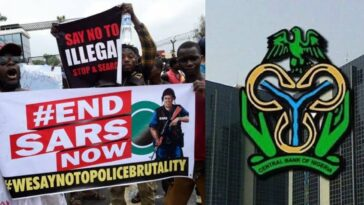 CBN Gets Court Order To Freeze Bank Accounts Of #EndSARS 'Promoters' Till January 6