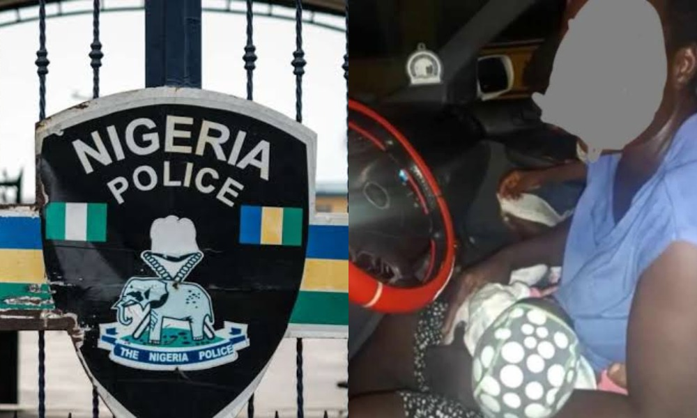 Stranded Nursing Mother And Her Kids Rescued At Midnight By Police In Lagos 1