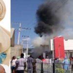 Grandex Supermarket Belonging To Ajimobi's Wife, Florence Partly Razed By Fire In Ibadan 27