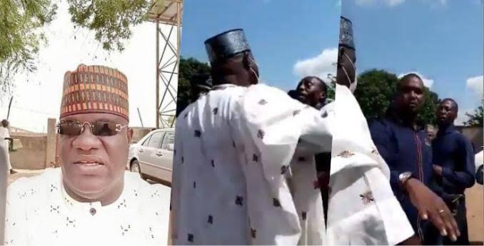 Adamawa LGA Chairman, Idi Amin Caught On Camera Physically Assaulting A Mechanic [Video] 1