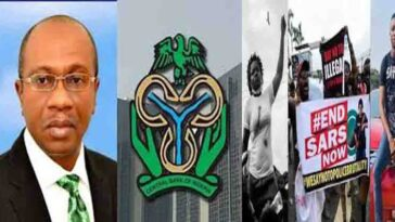 CBN: Central Bank Accuses #EndSARS Campaigners Of Terrorism, Freezes Their Accounts 4