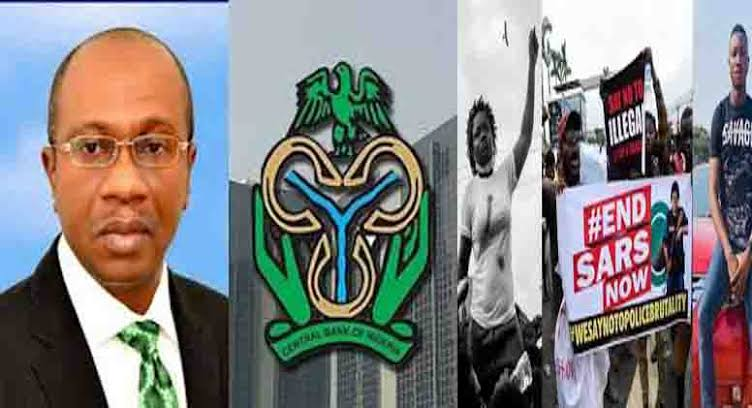 CBN: Central Bank Accuses #EndSARS Campaigners Of Terrorism, Freezes Their Accounts 1