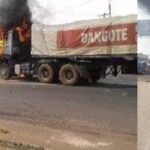 Angry Youths Burns Dangote Truck After Fleeing Driver Killed A Cart Pusher In Anambra 27