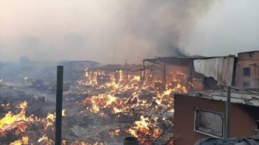 Angry Youths Burn Market Over Mysterious Deaths Of 34 Persons In Delta State 5