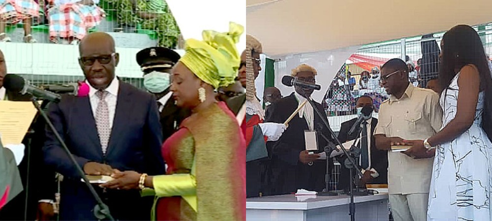 EDO: Governor Obaseki And His Deputy, Philip Shaibu Sworn-In For Second Term [Photos] 1