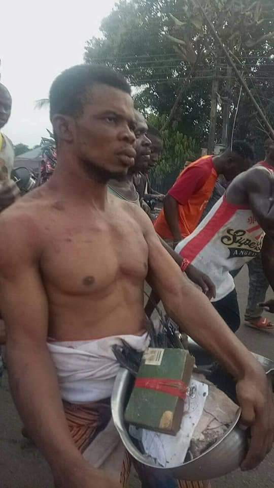 Anambra Pastor Allegedly Caught With Charms, Fetish Items In His Church [Photos/Video] 4