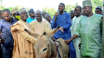 Governor Ganduje's Aide, Murtala Gwarmai Shares Donkey To Empower Youths In Kano 1