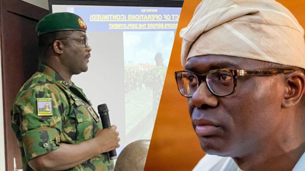 Lekki Shooting: Nigerian Army Says They're Unhappy That Sanwo-Olu Denied Inviting Them 1