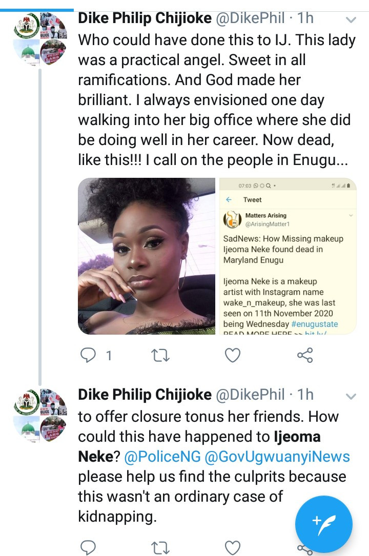 Young Makeup Artist, Ijeoma Nweke Found Dead After Being Booked For A Job In Enugu 3