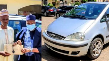 Man Who Trekked 15 Days For Buhari, Finally Gets A Car And N2 Million For His Sore Limbs 1