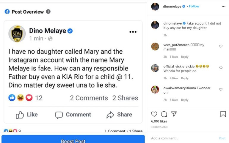 Dino Melaye Speaks About Buying Lamborghini As Birthday Gift For His 11-Year- Old Daughter 2