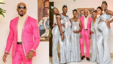 Pretty Mike Attends Williams Uchemba's Wedding With Six Pregnant Baby Mamas [Video] 4