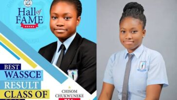 17-Year-Old Brilliant Girl, Chisom Chukwuneke Dies After Obtaining Seven A1s In WASSCE 2
