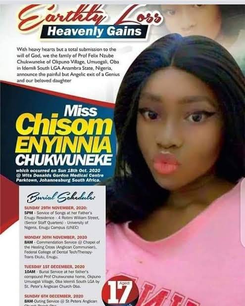 17-Year-Old Brilliant Girl, Chisom Chukwuneke Dies After Obtaining Seven A1s In WASSCE 3