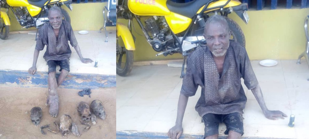 55-Year-Old Man Arrested With Four Human Skulls, Three Hands, Other Body Parts In Ogun 1