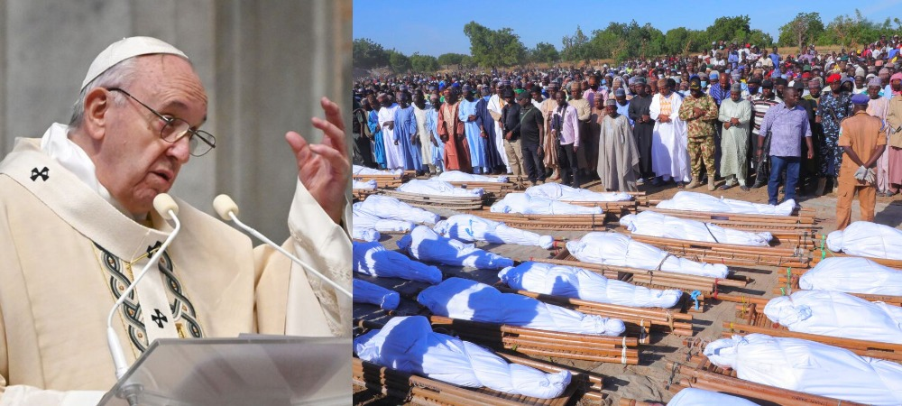 Pope Francis Reacts To Killing Of 43 Rice Farmers By Boko Haram Terrorists In Borno 1