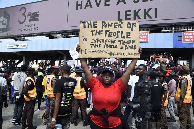 #EndSARS Protest Resumes Again Across Nigeria Amid Heavily Armed Security Operatives 1