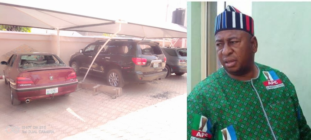 Angry Youths Destroy Benue APC Chairman's House And Cars Over Death Of His Security Guard 1