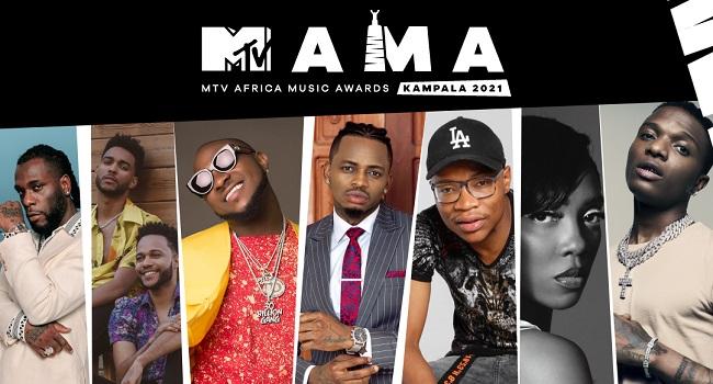 Burna Boy, Davido, Wizkid, Tiwa Salvage, Others Among Nominees For MTV MAMA Awards 1