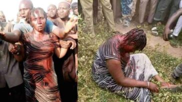 Woman Beaten Mercilessly By Angry Mob For Allegedly Kidnapping Children In Nasarawa 2