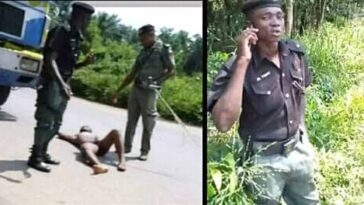 Outrage As Bribe-Seeking Policemen Strip Driver Naked, Vandalise His Vehicle In Rivers 4