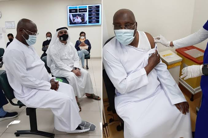 Atiku Abubakar Receives Pfizer COVID-19 Vaccine In Dubai [Photos] 1