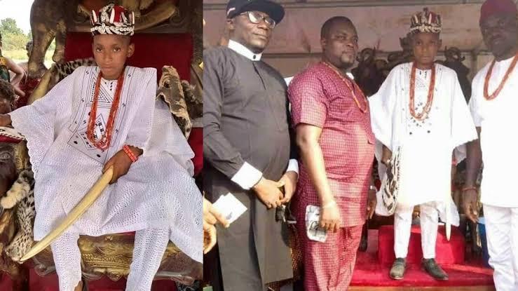 10-Year-Old Boy, Akubuisi Okonkwo Becomes Youngest King In Anambra [Photos] 1