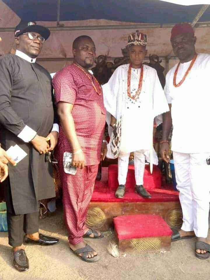 10-Year-Old Boy, Akubuisi Okonkwo Becomes Youngest King In Anambra [Photos] 4