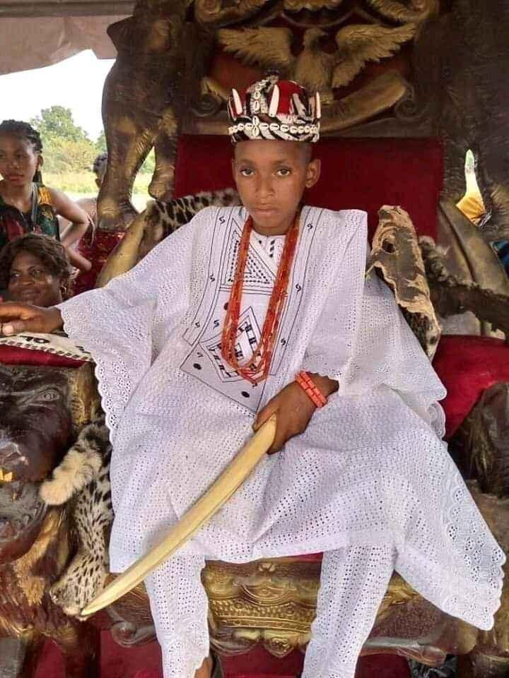10-Year-Old Boy, Akubuisi Okonkwo Becomes Youngest King In Anambra [Photos] 3