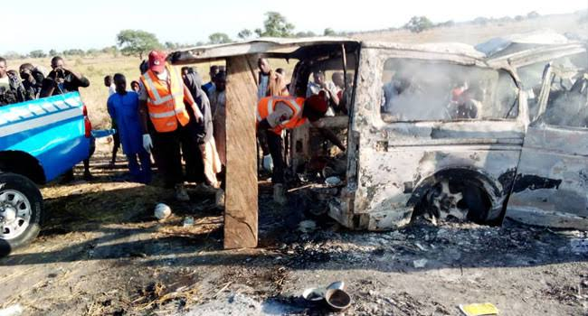 Two Women Escapes Death As 20 Persons Burns Beyond Recognition In Bauchi Auto-Crash 1